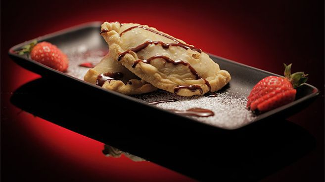 Apple and Cinnamon Empanadas with Chocolate Sauce