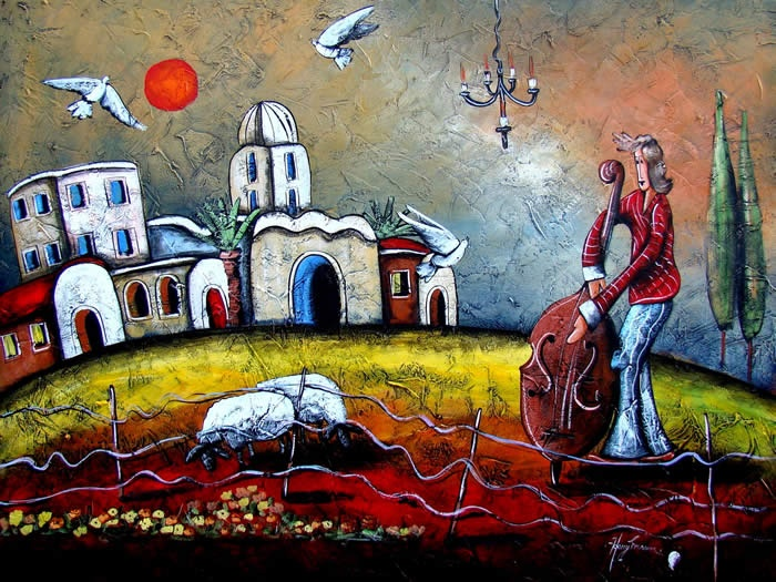 Painting by Harry Erasmus - Can you hear my song?