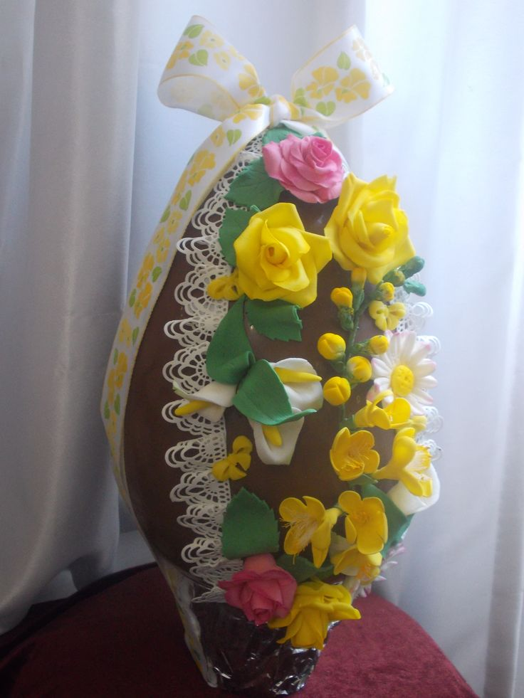 Uova cioccolato decorate