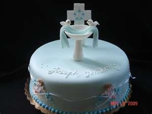 Cute idea with the baptismal font.