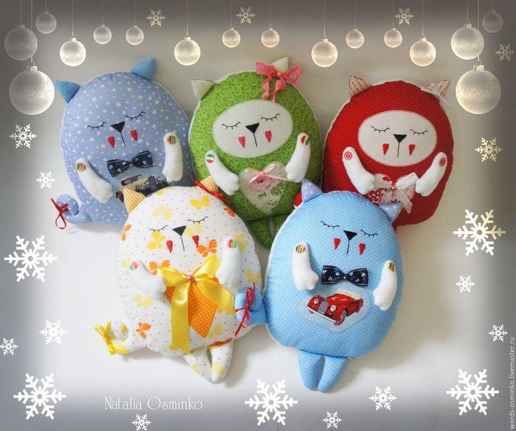 Купить Подушка Кот (разные цвета) - кот, подушка кот, подушка игрушка, мягкая игрушка