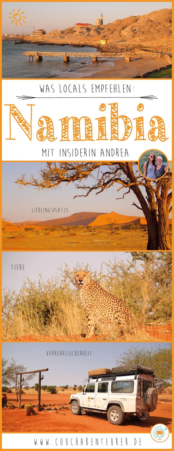 Auf Reisen erkundige ich mich oft bei Locals über ihr Land. Das hilft mir in keine Fettnäpfchen zu treten, sicher zu reisen und die schönsten Plätze zu entdecken. Glücklicherweise habe ich liebe Freunde die aus Namibia stammen und mir auch vorab schon verraten haben, worauf es in ihrer Heimat ankommt!  Andrea kenne ich aus meiner Zeit in Südafrika. Sie ist noch oft im Nachbarland um ihre Familie zu besuchen und kennt sich daher bestens aus! Das hat sie mir verraten: