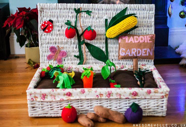 Completed felt garden. felt garden, felt food, felt vegetables. | AWESOMEVILLE