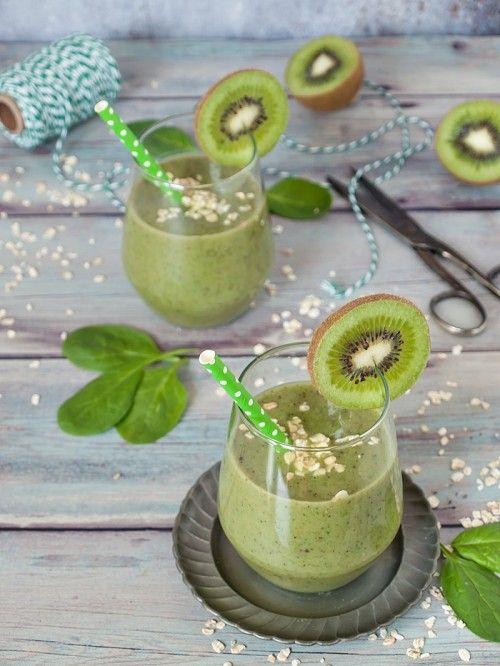 Kivi-banán-spenót smoothie recept