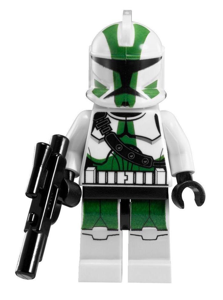 lego star wars commander gree clone minifigure with blaster gun new 9491 lego