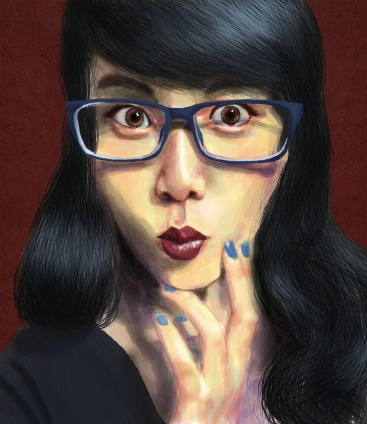 My First Digital Portrait Painting! by inezwandita on DeviantArt