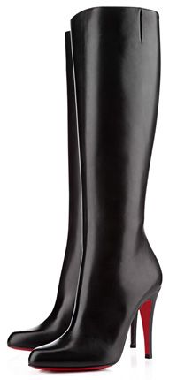 Christian Louboutin Bourge Tall High Heel Boots in black
