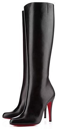 Christian Louboutin Bourge Tall High Heel Boots in black