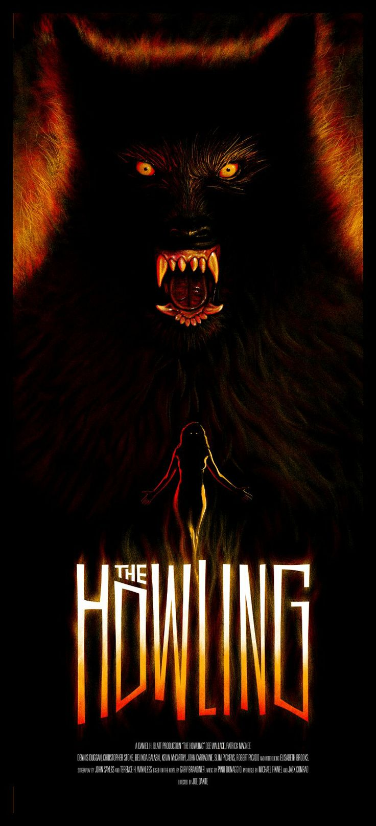 The Howling. Not much of a fan of the movie but this poster is rad.