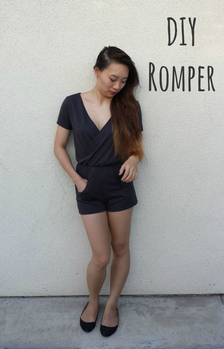 I've been wanting a romper for quite a while now, so here's how I made my own. I used about 1.5 yard of a heavy knit purchased at Joann'...