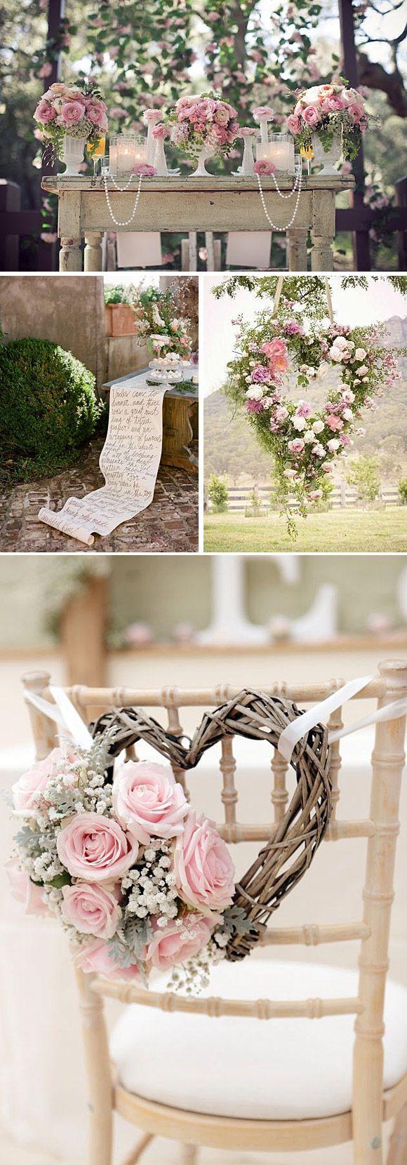 Inspiración romántica para una boda en colores pasteles