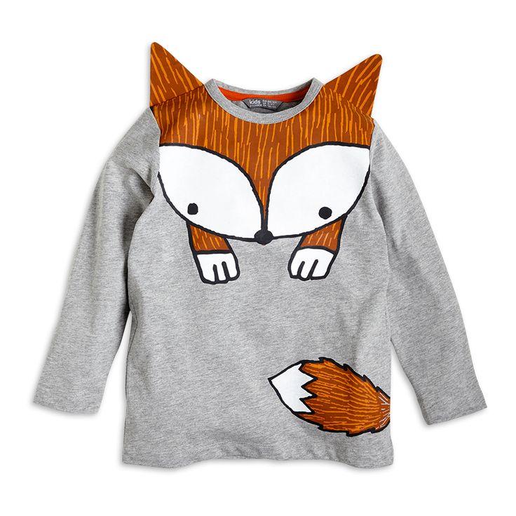 Tričko s potiskem, Šedá, Dívka 2-7 let, Děti | Lindex
