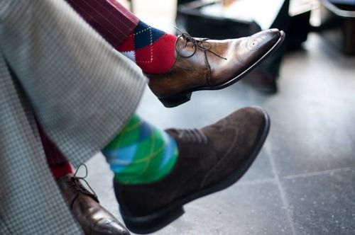 Argyle socks are a must have!!!  XD XD