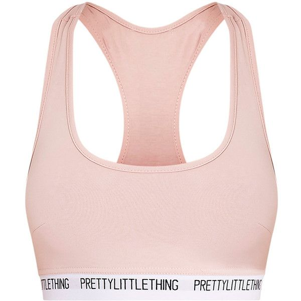 PrettyLittleThing Nude Sports Bra ❤ liked on Polyvore featuring activewear, sports bras, sports jerseys, pink sports bra, athletic sportswear, sport jerseys and pink jersey