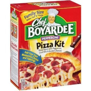My favorite meal: A Chef Boyardee Pizza. I grew up eating these. Still love them.