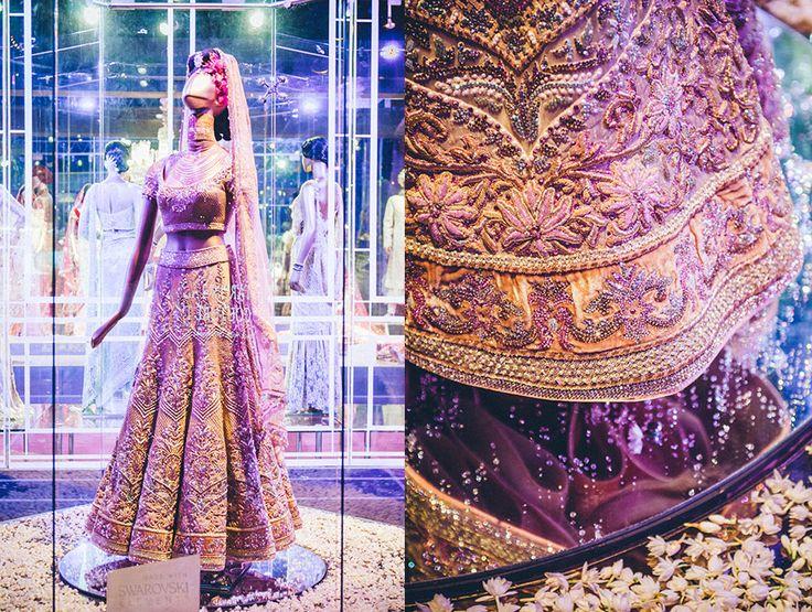 Tarun Tahiliani Bridal Couture 2012......this lengha is made of Swarovski crystals! Stunning!