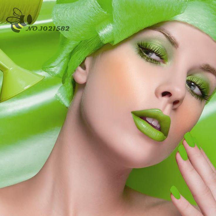 Готический Зеленая помада Партии Карнавал Необходимые Для Губ Блеск Для Губ краска Зомби макияж Эльф макияж Водонепроницаемый наконец бесплатная доставка