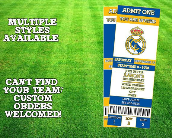 Real Madrid Invitation