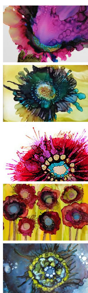 Alcohol Ink Art by Beth Kluth