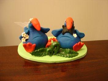 Pukeko Wedding Cake Topper