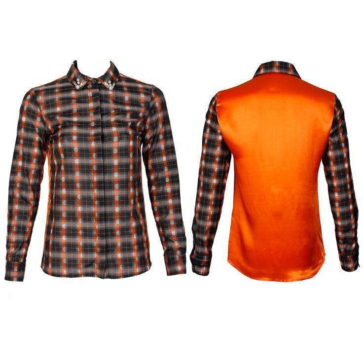 #whoswho #greenbird #marinamall #abudhabi #abudhabifashion #abudhabistyle #dubai #dubaifashion #dubaistyle #fashionista #womenswear #eveningwear #casualwear #fall2013 #winter2014 #blouse #shirt #collaredshirt #plaidshirt #plaid #orangeplaid #unisex