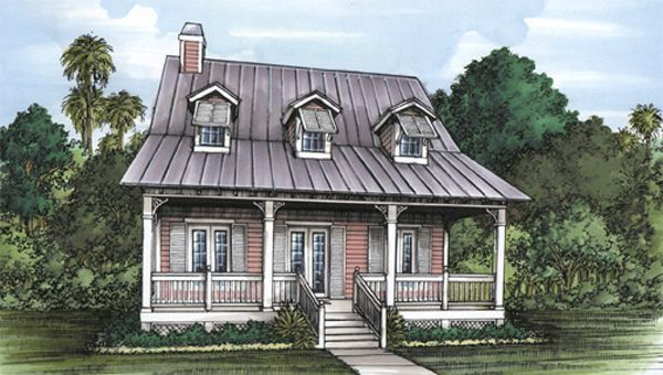 Florida Cracker House Plan Chp 24543 At