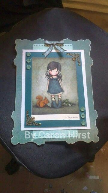 Gorjuss girl plaque