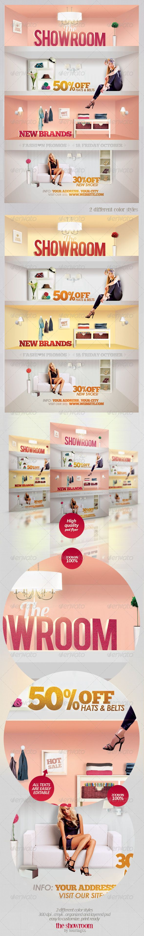 The Showroom Flyer Template / $6. ***This flyer is perfect for the promotion of Shops/Boutiques, Sales/Promotions, Fashion Shows, New Collections or Whatever you Want!.***