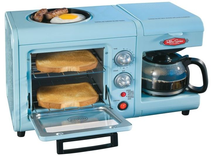 make eggs, toast, and coffee all in 1 convenient little machine..? YES, please!