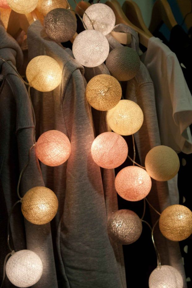 Decorative Light Balls 95 Best String Lights  Cotton Ball Wall Hanging Home Decor
