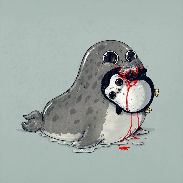 Um dos palestrantes do Pixel Show 2015, Alex Solis nos apresenta uma série de ilustrações que desconstrói a imagem do predador como um ser cruel. Confira!