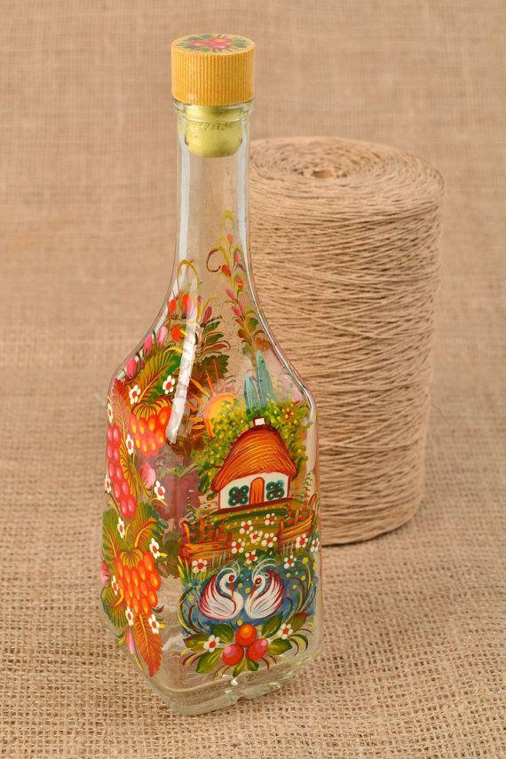 Painted Bottle Decorative Bottle Alcohol Bottle Vodka