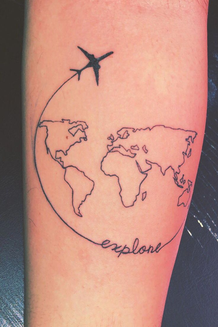 Take an airplane and explore the world #TravelTattoo