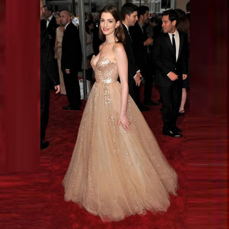 Robe De Soiree 2017 Red Carpet Celebrity Dresses Gold Sequins Tulle With Beaded Long Evening Dresses Oscar Evening Dresses