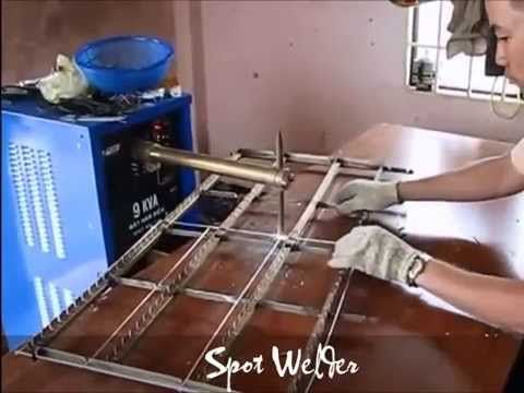 Spot welding machine - Steel Wires welding - YouTube