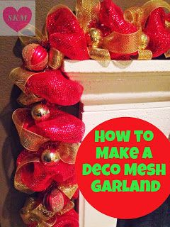 Ramble On: Deco Mesh Garland How To
