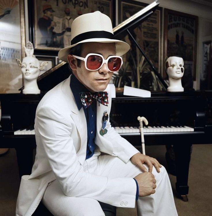 Elton John. Honky Chateau album cover.