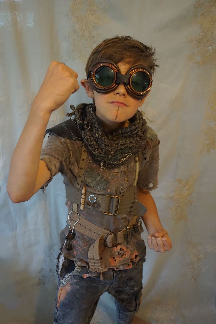 *post apocalypse kid, created by Fable Dresses on etsy*... children costume halloween city of ember wasteland weekend road warrior mad max apocalyptic