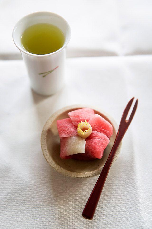 Japanese Wagashi Cake at Kyoto
