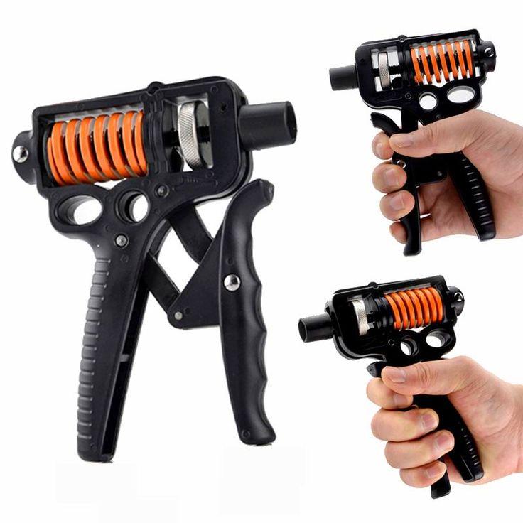 5-50 Kg Adjustable Hand Grip Strengthener Trainer Hand Gym Power Exerciser Gripper For Increasing Wrist Forearm Finger Strength