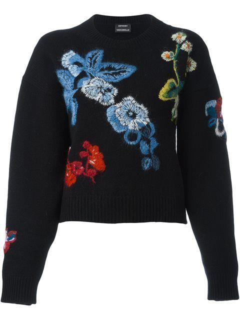 Купить Anthony Vaccarello свитер с цветочной вышивкой в Julian Fashion from the world's best independent boutiques at farfetch.com. 400 бутиков, 1 адрес. .