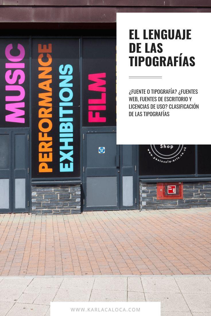 El Lenguaje De Las Tipografías Y Sus Clasificaciones En 2020 Tipografía Diseño De Paginas Web Tipos De Tipografia