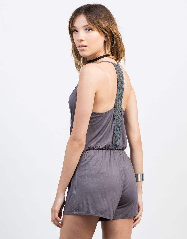#2020AVEXHOLIDAY Back View of Crochet Cami Romper
