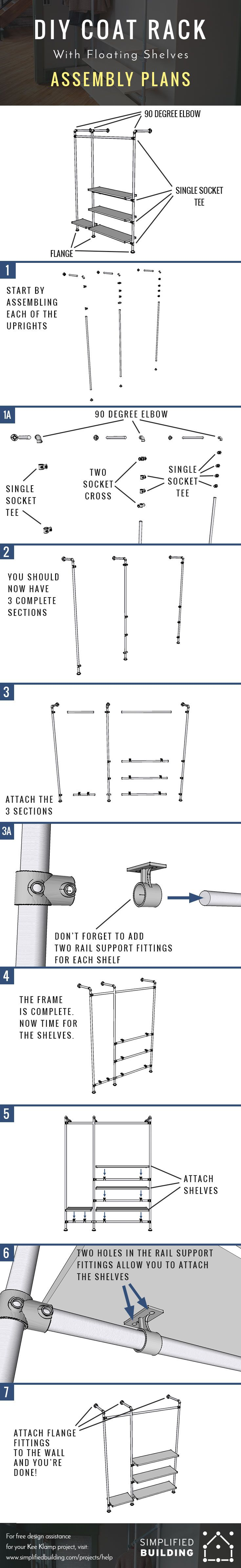 Best Industrial Pipe Shelves Images On Pinterest Industrial - Diy build industrial hanging shelf