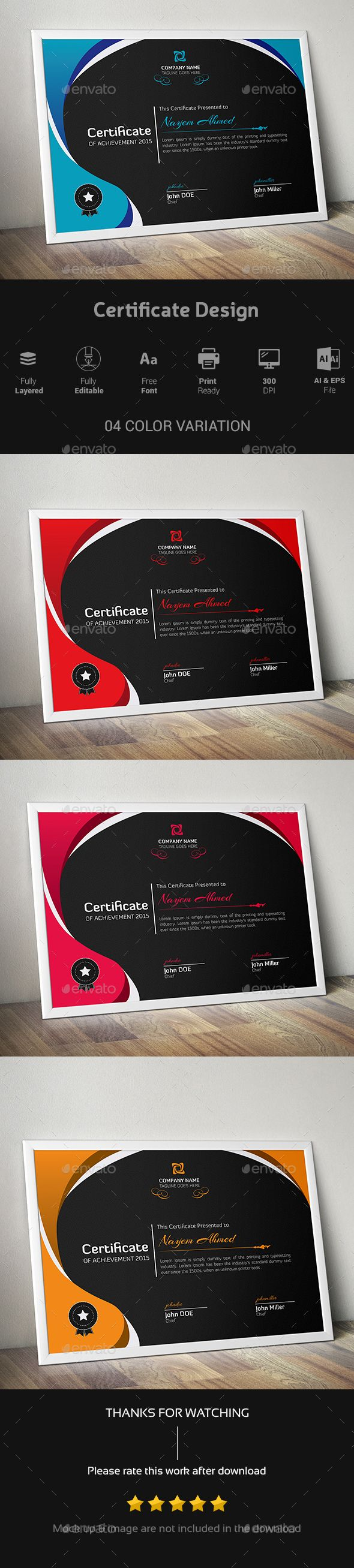 23 best certificate template design images on pinterest website certificate design certificates stationery xflitez Image collections