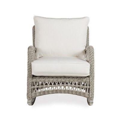 Lloyd Flanders Mackinac Lounge Rocking Chair with Cushions Fabric: Watercolor Blossom Capri