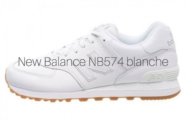 New Balance 574 blanche en soldee