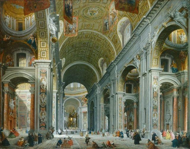 Giovanni Paolo Panini   Interior of Saint Peter's, Rome (c. 1754)   Artsy