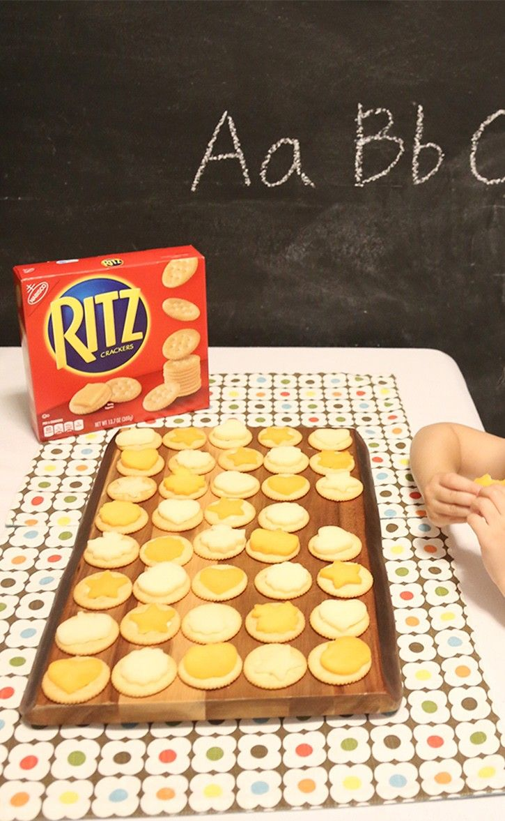 ad  your kids will love this fun afternoon snack  it is simple to make  u2013 top a ritz cracker