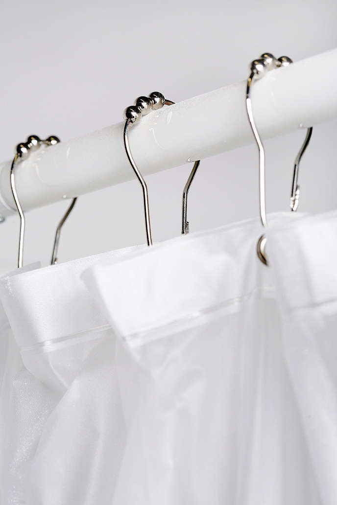 Metal Roller Shower Curtain Hooks Set - Urban Outfitters